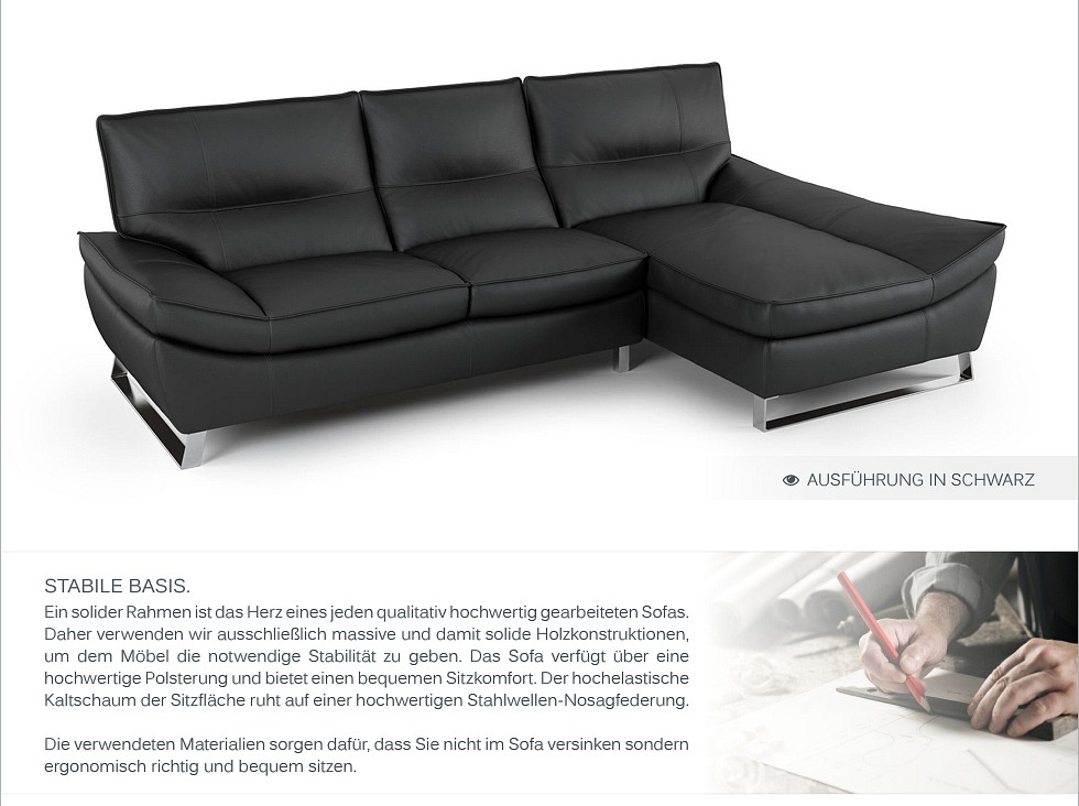 Designer eck sofa garnitur eck couch garnitur ledersofa - Italienische ledercouch ...