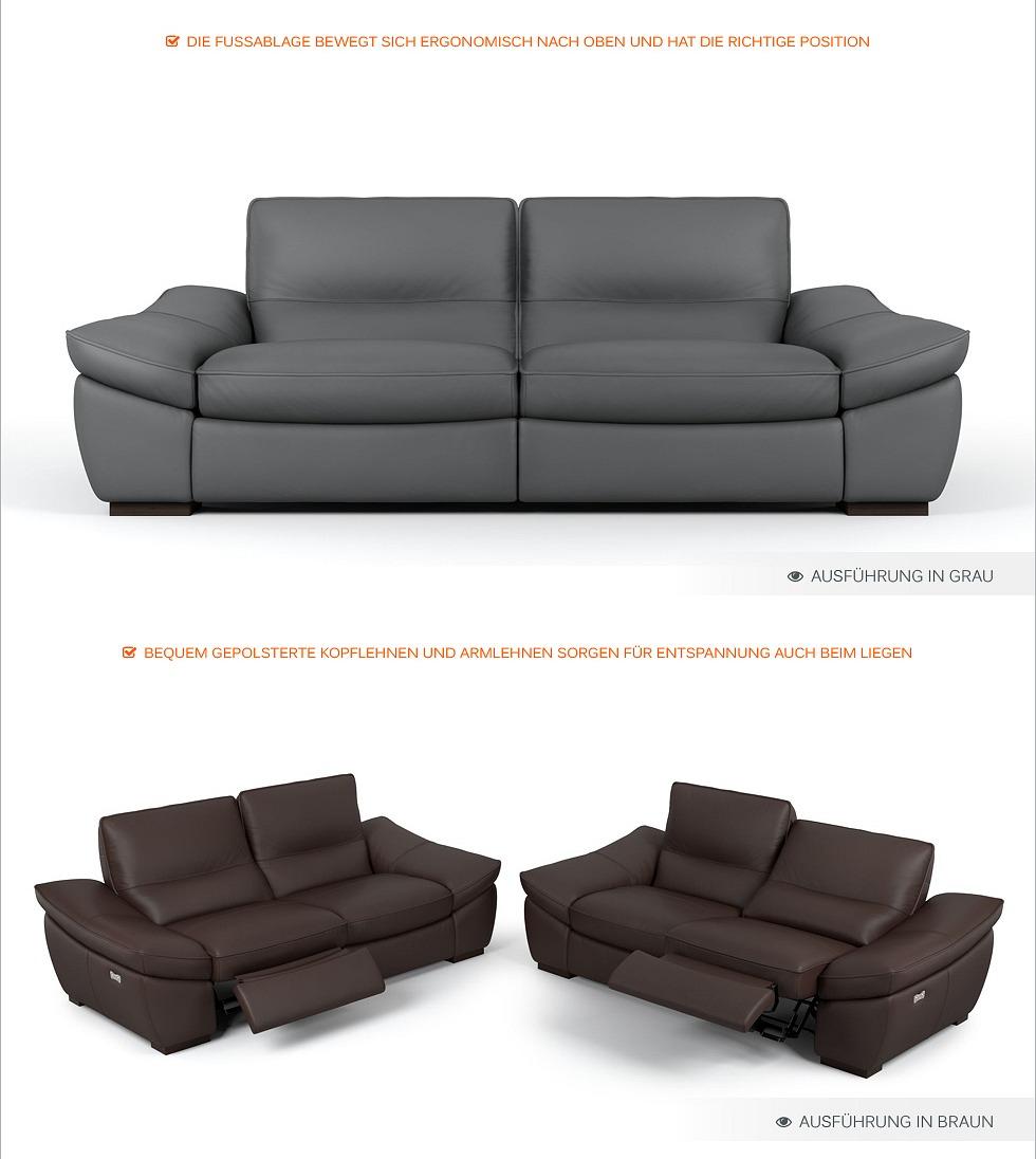 designer funktionssofa leder sofa garnitur leder couch garnitur polstergarnitur ebay. Black Bedroom Furniture Sets. Home Design Ideas