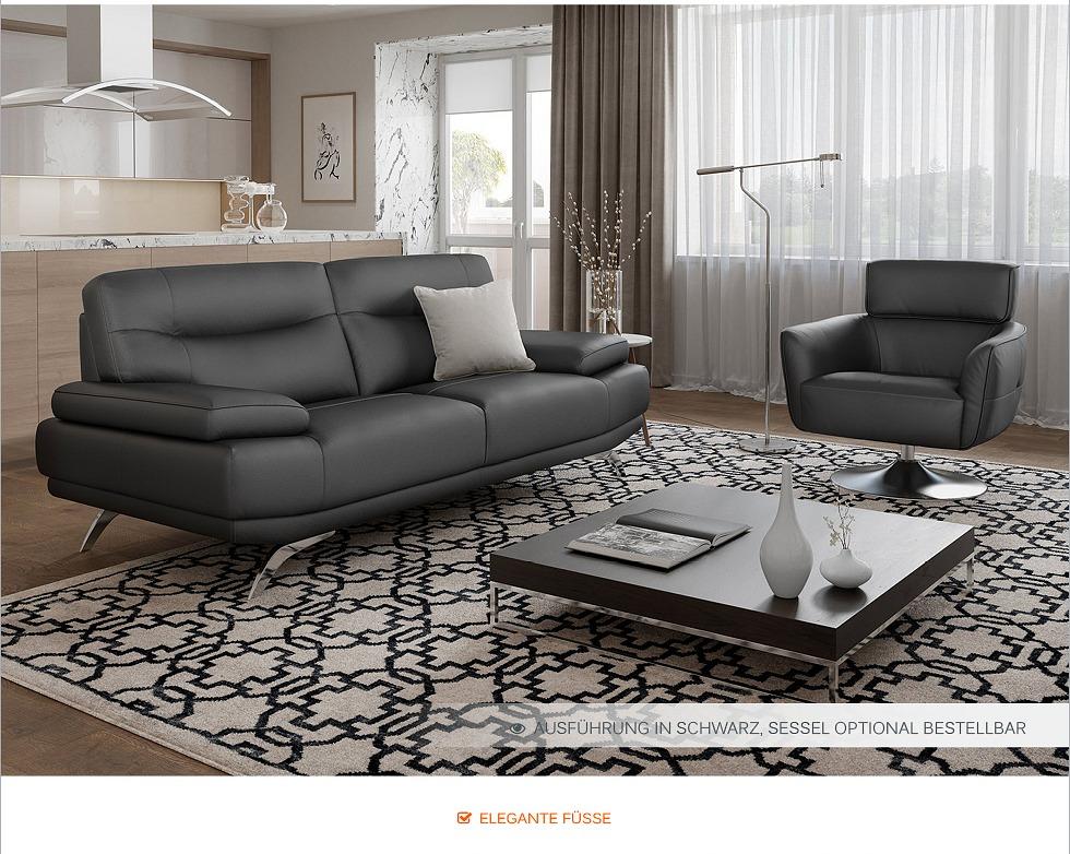 Leder sofa garnitur zweisitzer couchgarnitur ledercouch - Italienische ledercouch ...