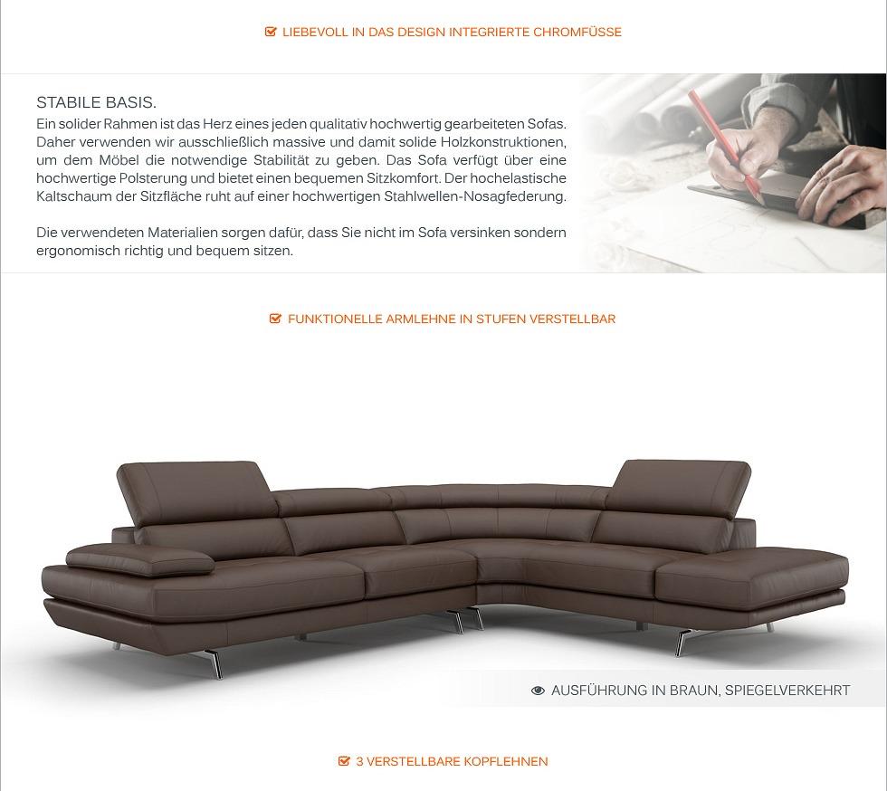 leder ecksofa eckcouch polster sofagarnitur couch garnitur rundsofa sitzecke ebay. Black Bedroom Furniture Sets. Home Design Ideas