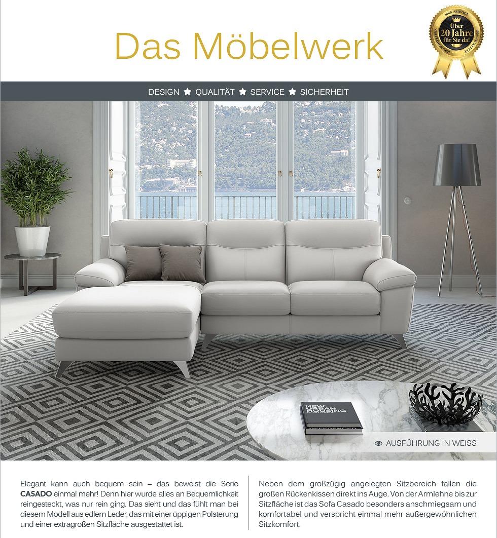 leder eckcouch ecksofa sofagarnitur sitzecke leder. Black Bedroom Furniture Sets. Home Design Ideas