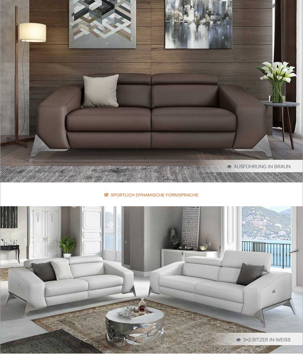 ledersofa funktionscouch leder couchgarnitur tv sofa garnitur polstergarnitur ebay. Black Bedroom Furniture Sets. Home Design Ideas