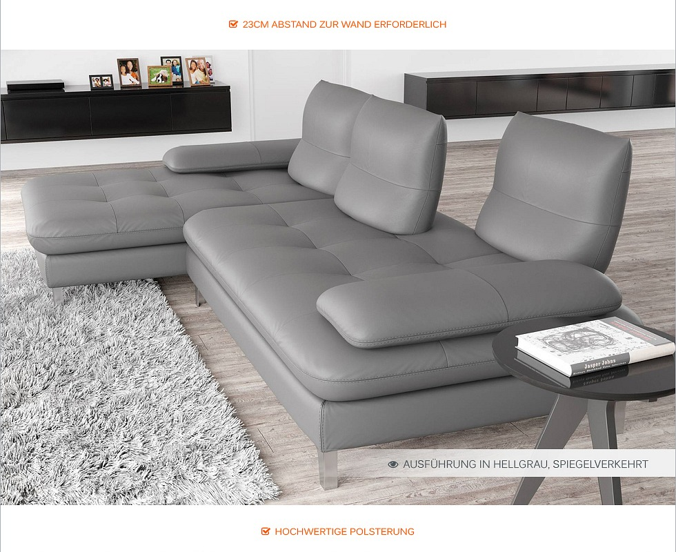 echt leder sofa couch garnitur ecksofa eckcouch polsterecke xxl polstergarnitur ebay. Black Bedroom Furniture Sets. Home Design Ideas