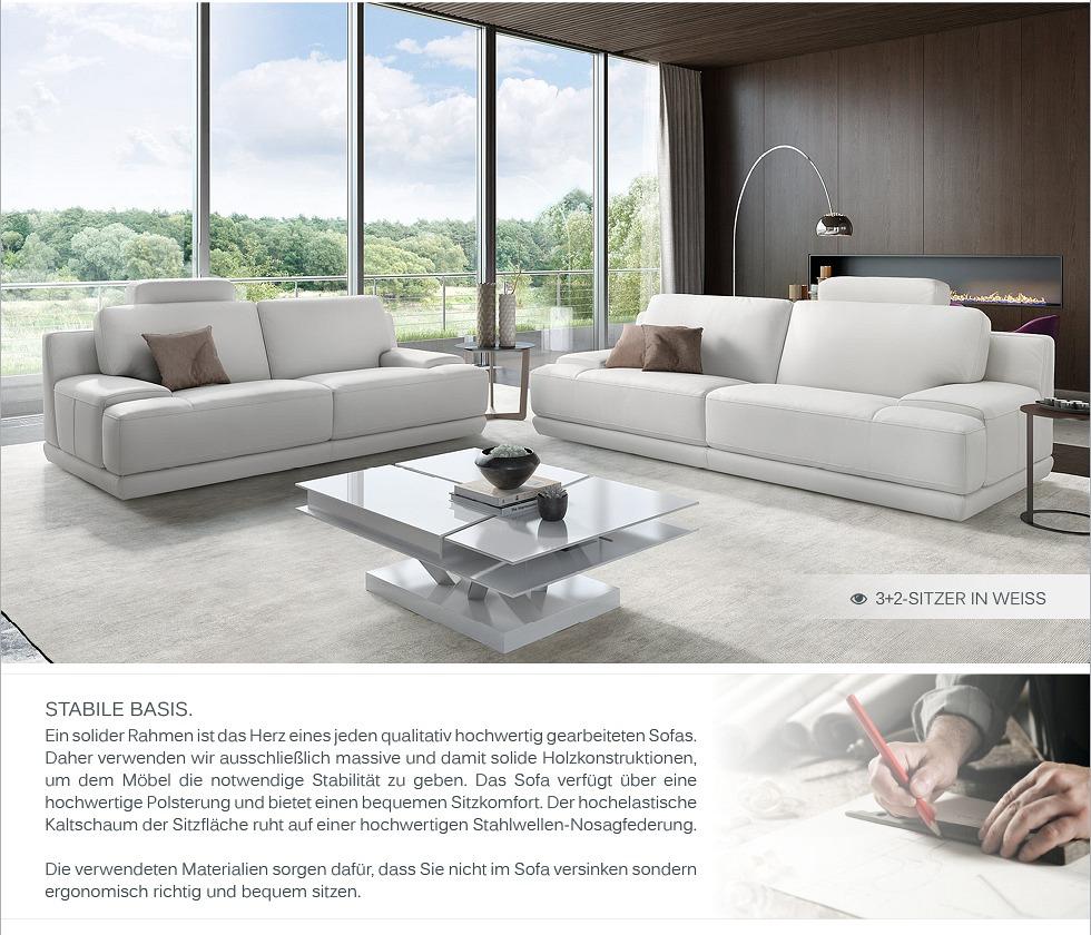 leder designer sofa couchgarnitur polstergarnitur 2 sitzer wohnlandschaft 2er ebay. Black Bedroom Furniture Sets. Home Design Ideas