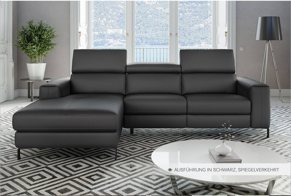 ledersofa ledercouch ecksofa eckcouch polsterecke sofaecke sitzecke sofa couch ebay. Black Bedroom Furniture Sets. Home Design Ideas
