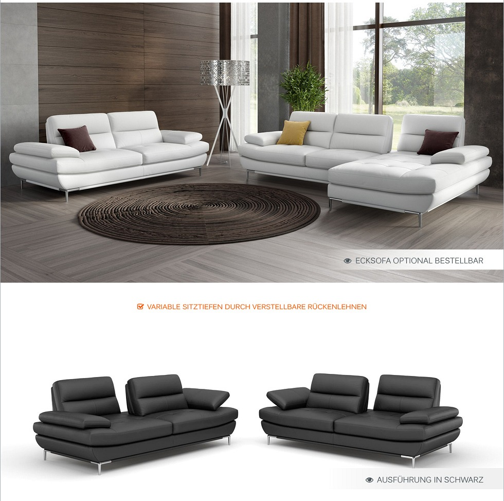 designer funktionscouch relax leder sofa couch polstergarnitur wohnlandschaft ebay. Black Bedroom Furniture Sets. Home Design Ideas