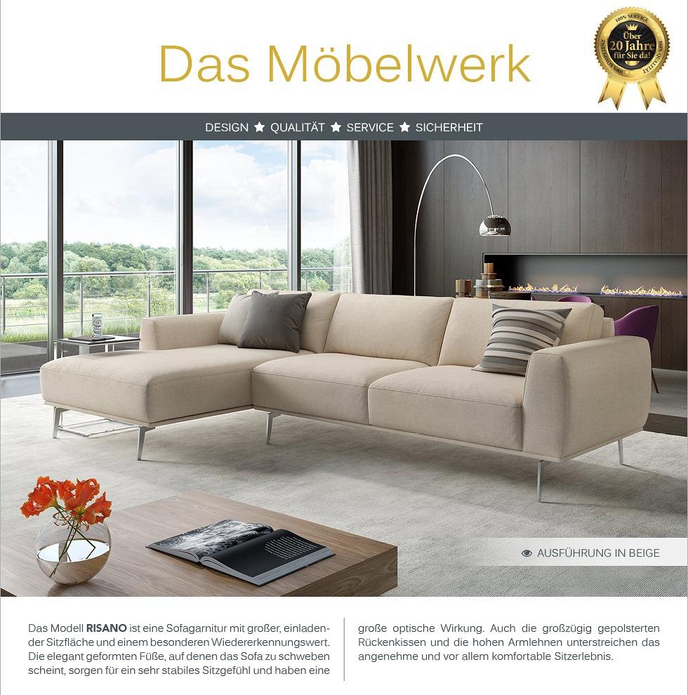 Design sofa eck couch garnitur ecksofa textil stoff for Ecksofa textil