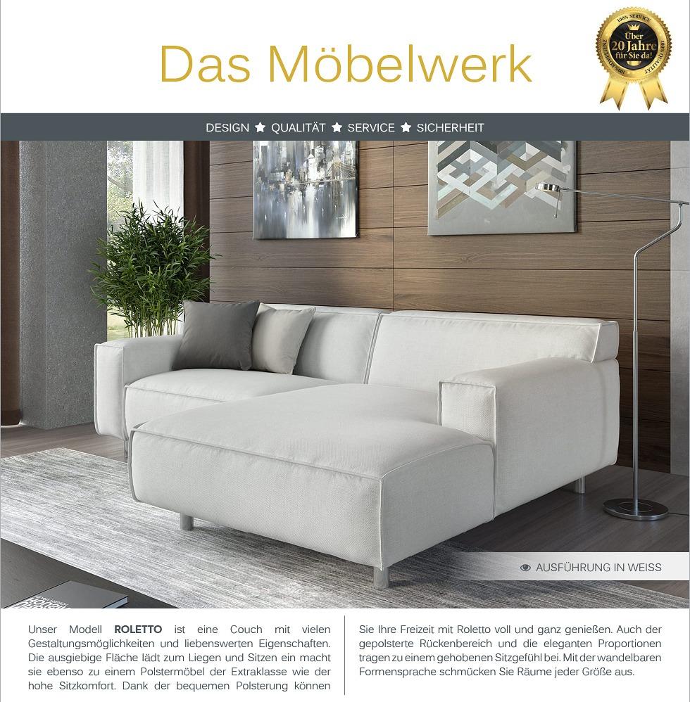 Stoff eck sofa garnitur eck couch polsterecke for Sofa 45 grad ecke
