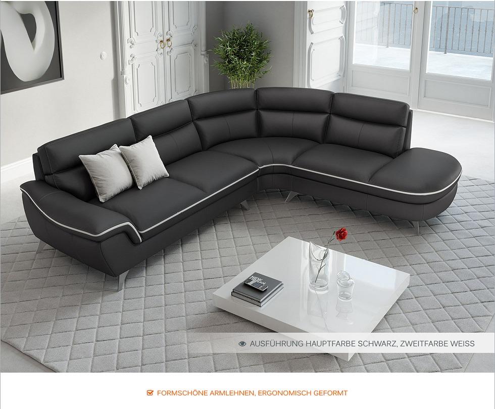 leder ecksofa garnitur runde eckcouch couchgarnitur rundsofa rundcouch sitzecke. Black Bedroom Furniture Sets. Home Design Ideas