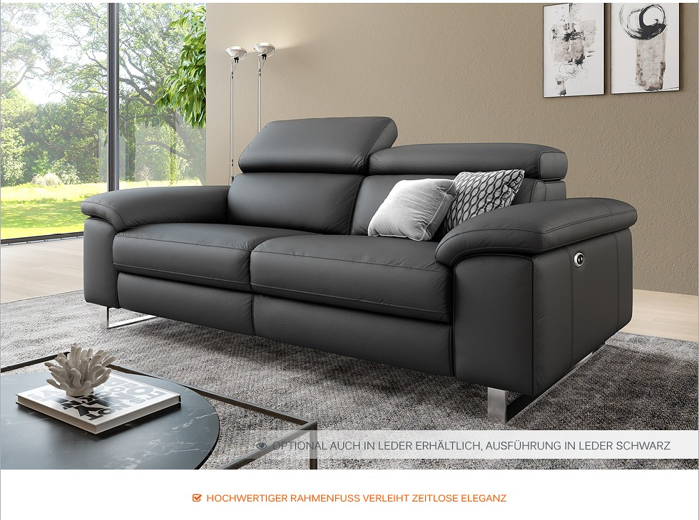 funktionscouch stoff sofa couch polstergarnitur 2 sitzer relax sessel 2er leder ebay. Black Bedroom Furniture Sets. Home Design Ideas