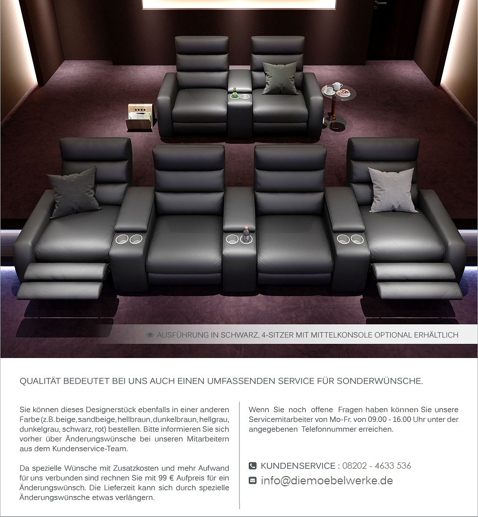 heim kino sofa relaxsofa funktionssofa leder sofa couch. Black Bedroom Furniture Sets. Home Design Ideas