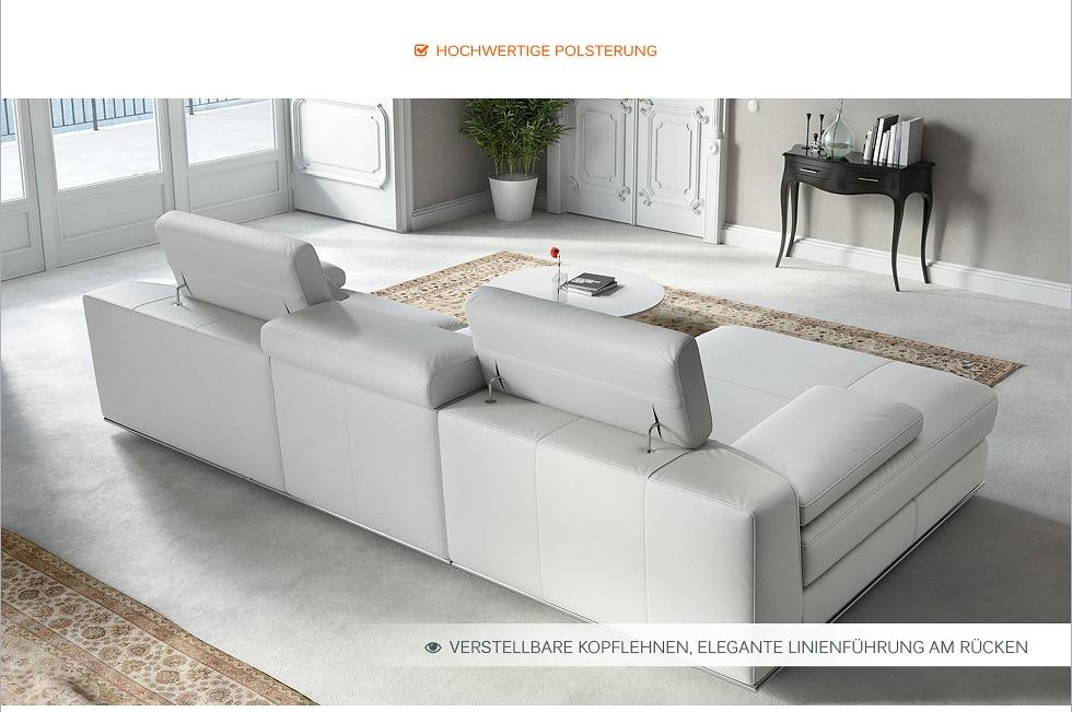 leder eck sofa garnitur leder eck couch garnitur wohnlandschaft polstergarnitur ebay. Black Bedroom Furniture Sets. Home Design Ideas
