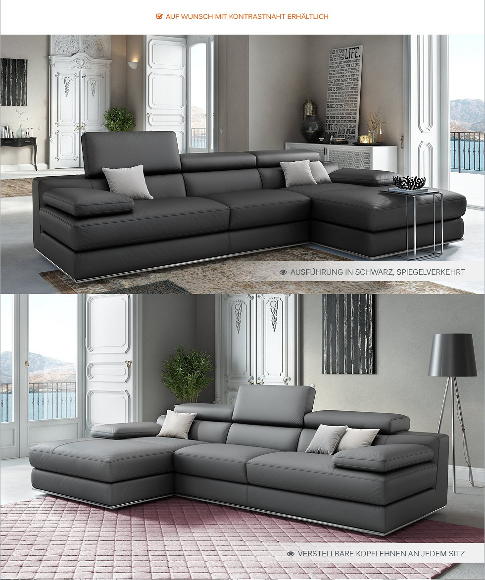 leder eck sofa garnitur leder eck couch garnitur wohnlandschaft polstergarnitur ebay. Black Bedroom Furniture Sets. Home Design Ideas